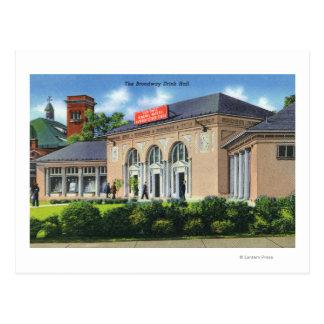 Cartão Postal Ideia exterior da bebida Salão de Broadway