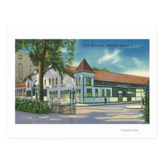 Cartão Postal Ideia exterior da bebida Salão do estado