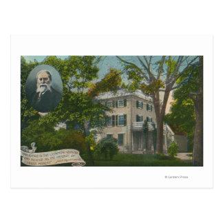 Cartão Postal Ideia exterior da casa de James Russell Lowell