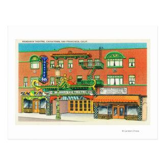 Cartão Postal Ideia exterior do teatro do mandarino,