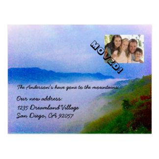 Cartão Postal Ido à mudança das montanhas de endereço sua foto
