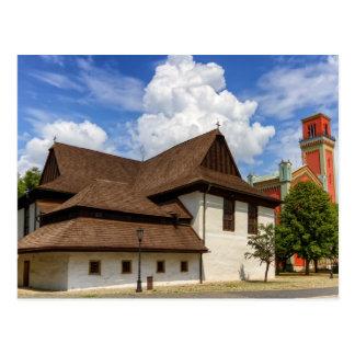 Cartão Postal Igreja articulaa de madeira em Kezmarok, Slovakia