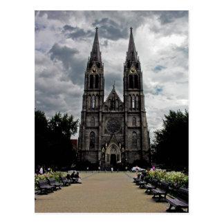 Cartão Postal Igreja, cidade nova, Praga