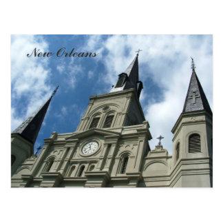 Cartão Postal Igreja da catedral de St Louis em Nova Orleães