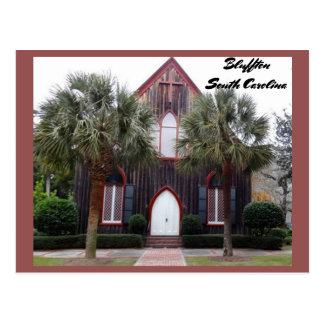 Cartão Postal Igreja da cruz - Bluffton, South Carolina