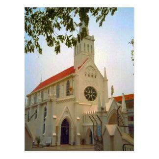 Cartão Postal Igreja da vila, suiça