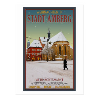 Cartão Postal Igreja de Amberg Weihnachten
