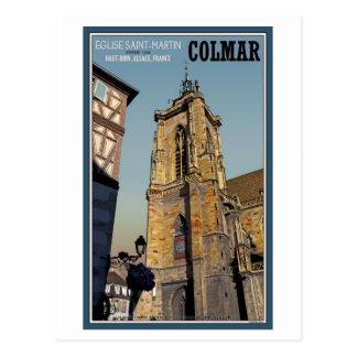 Cartão Postal Igreja de Colmar - de St Martins