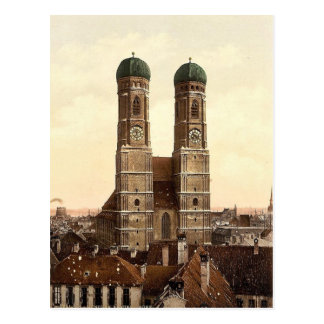 Cartão Postal Igreja de Frauen (isto é Frauenkirche), Munich,