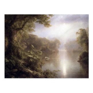 Cartão Postal Igreja de Frederic Edwin - manhã nos trópicos