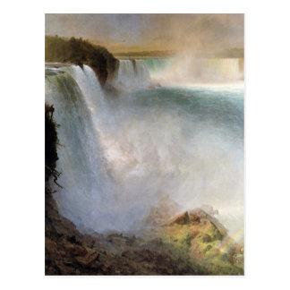 Cartão Postal Igreja de Frederic Edwin - Niagara Falls do Ame