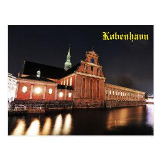 Cartão Postal Igreja de Holmens (Kirke) em Copenhaga, Dinamarca