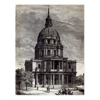 Cartão Postal Igreja de Invalides, contendo o túmulo de