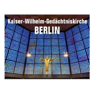 Cartão Postal igreja de memória de Wilhelm de imperialista,