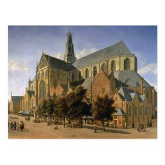 Cartão Postal Igreja de St. Bavo em Haarlem, 1666