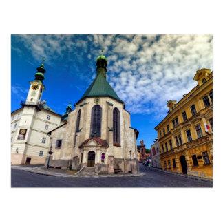 Cartão Postal Igreja de St. Catherine, Banska Stiavnica,