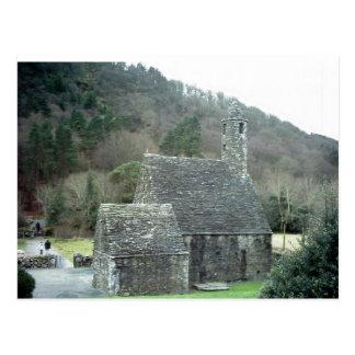 Cartão Postal Igreja de St.Kevins, Glendalough, Co.Wicklow,