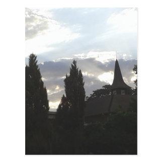 Cartão Postal Igreja do por do sol