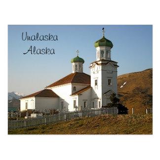 Cartão Postal Igreja do russo de Unalaska