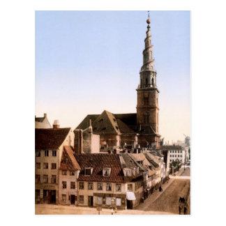 Cartão Postal Igreja do Vor Frelsers Kirke de nosso salvador