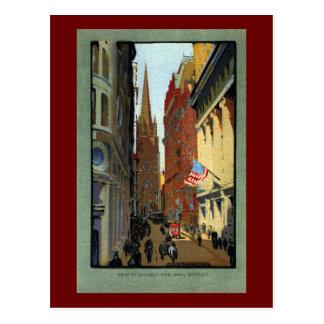 Cartão Postal Igreja e Wall Street de trindade