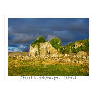 Cartão Postal Igreja em Ballyvaughn