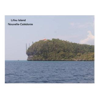 Cartão Postal Igreja, ilha de Lifou, Nova Caledônia