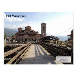 Cartão Postal Igreja medieval St Clement, Plaoshnik, Macedónia