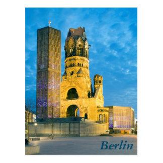 Cartão Postal Igreja memorável de Kaiser Wilhelm, Berlim