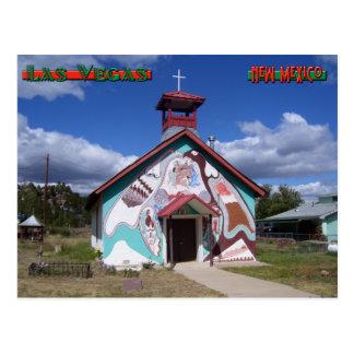 Cartão Postal Igreja pintada, Montezuma New mexico
