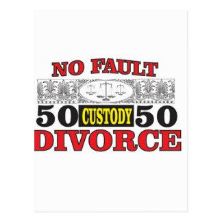 Cartão Postal igualdade 50 do divórcio 50 da no-falha