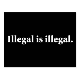 Cartão Postal Ilegal é ilegal