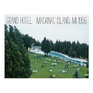 Cartão Postal Ilha 1956 grande de Mackinac do hotel Michigan
