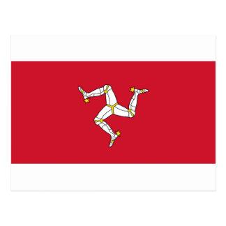 Cartão Postal Ilha da bandeira do homem - bandeira Manx -