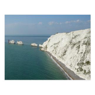 Cartão Postal Ilha de agulhas e de penhascos do Wight