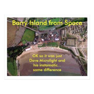 Cartão Postal Ilha de Barry do espaço