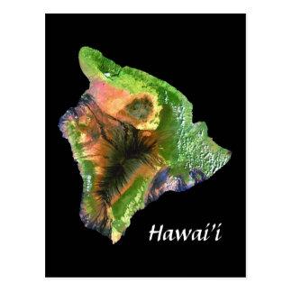 Cartão Postal Ilha de Havaí da imagem de Landsat do espaço