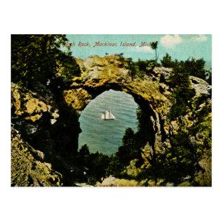 Cartão Postal Ilha de Mackinac da rocha do arco, Michigan 1911
