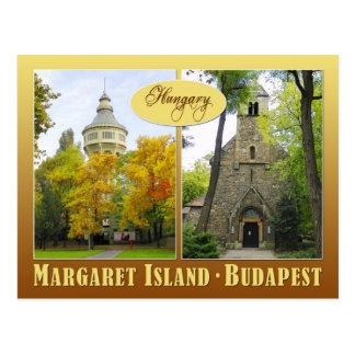 Cartão Postal Ilha de Margaret em Budapest, Hungria