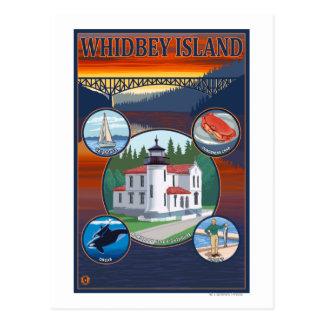 Cartão Postal Ilha de Whidbey, poster de viagens de