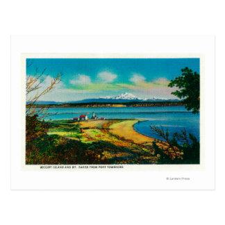 Cartão Postal Ilha de Whidby e padeiro do Mt. do porto Townsend