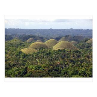 Cartão Postal Ilha Filipinas de Bohol das colinas do chocolate