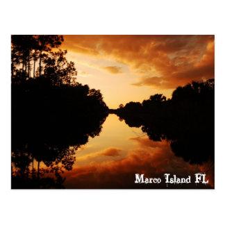 Cartão Postal Ilha FL de Marco