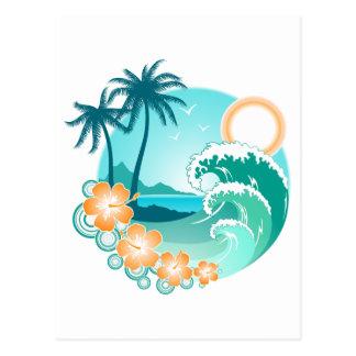 Cartão Postal Ilha havaiana 1