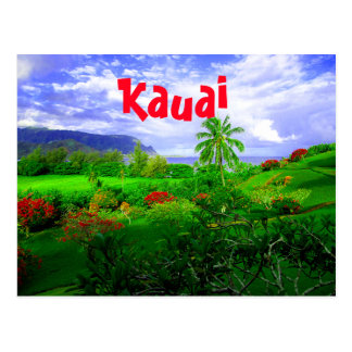 Cartão Postal Ilha havaiana tropical de Kauai