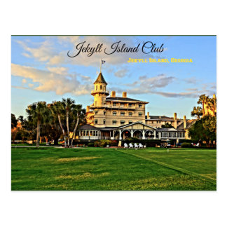 Cartão Postal Ilha histórica Geórgia de Jekyll do clube da ilha