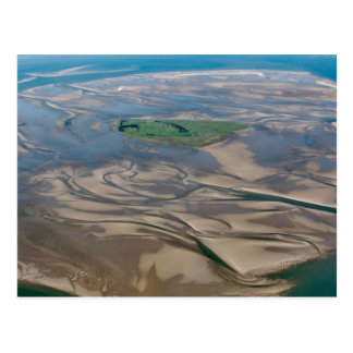 Cartão Postal Ilha Neuwerk perto de Hamburgo no mar de Wadden do