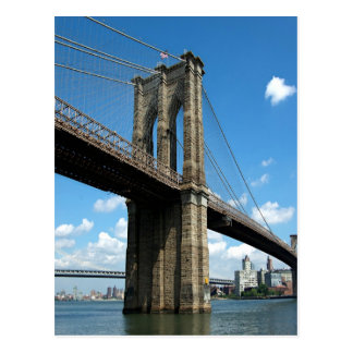 Cartão Postal Ilha New York de Manhattan da ponte de Brooklyn