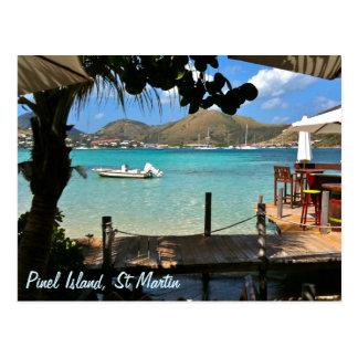 Cartão Postal Ilha St Martin SXM de Pinel