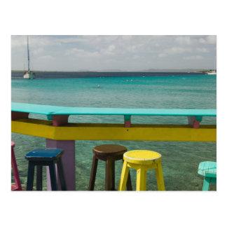 Cartão Postal Ilhas de ABC, BONAIRE, Kralendijk: Vista para o